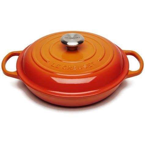 le creuset signature cast iron shallow casserole dish 26cm volcanic homeware thehut