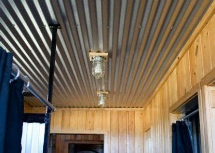 17 corrugated steel basement ceiling   Shelterness