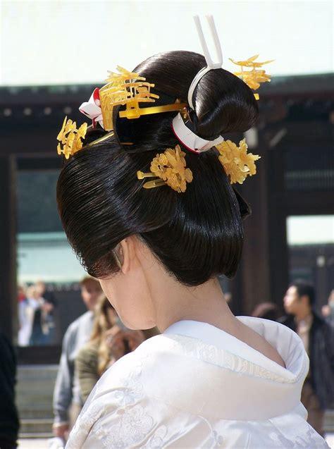 shinto wedding traditional japanese wedding hairstyle