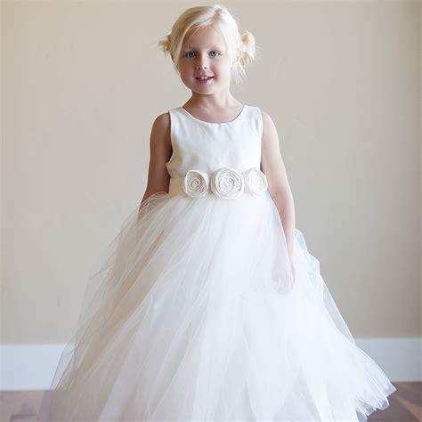 bridal fashion show seaside flower girl dress