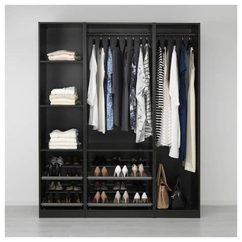 Black Brown Wardrobe Closet by Wardrobe Pax Black Brown In 2019 Closet Organization