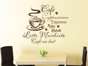 wandtattoo für küche wandtattoo kaffee mit kaffeetasse und kaffeesorten wandtattoo de