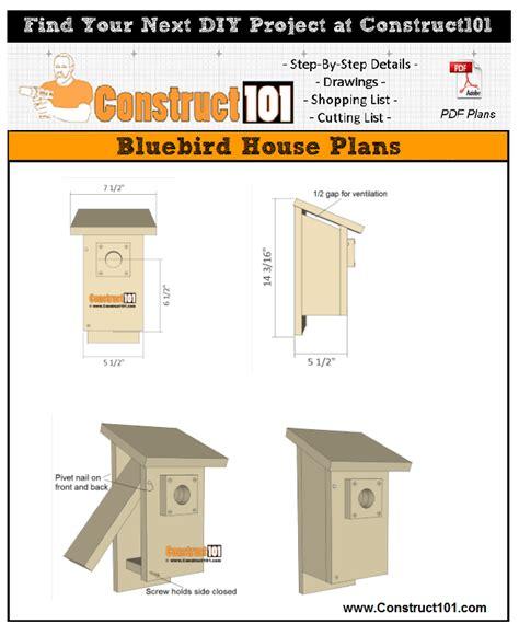 bluebird house plans   construct
