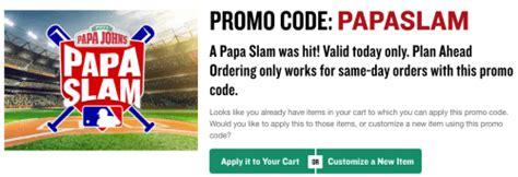 50718 Grand Slam Promo Code Papa Johns by Papa S Canada Grand Slam Deal Save 40 Pizzas