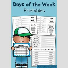 Free Days Of The Week Printables