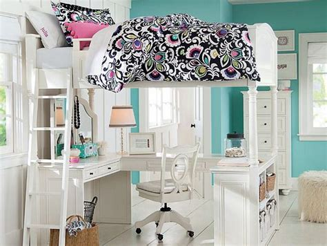 Girls Bedroom Ideas With Loft Bed And Study Area