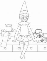 Elf Coloring Shelf Printable Mom sketch template