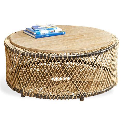 round coastal coffee table saranda beach style wood round coffee table kathy