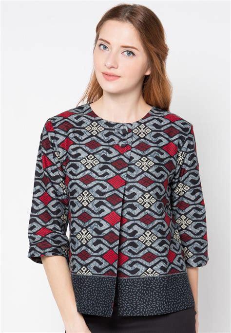 baju batik modern wanita terbaru di tahun 2018