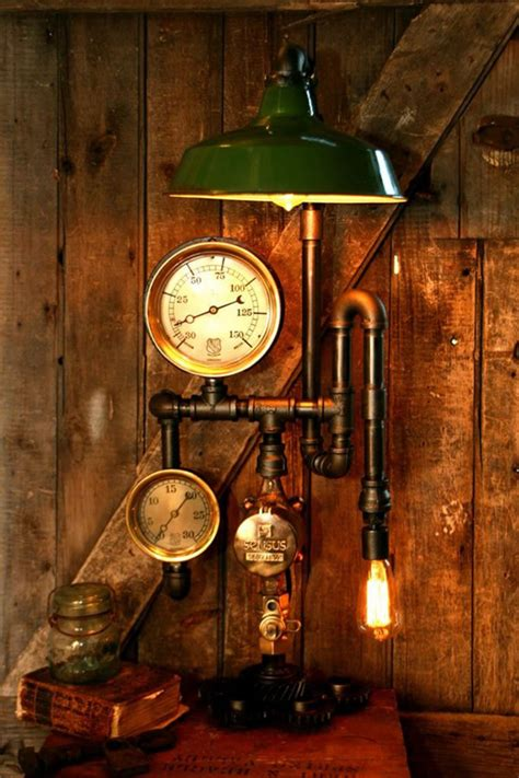 gorgeous steampunk lamps  machine age lamps neatorama
