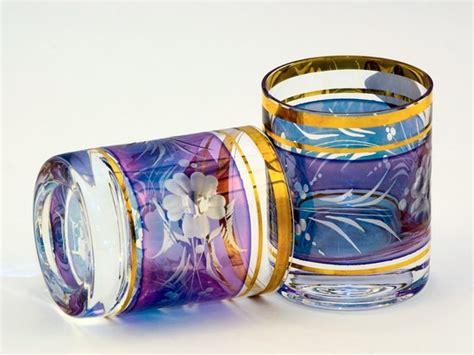 bicchieri cristallo boemia photo praga bicchieri di cristallo di boemia in prague