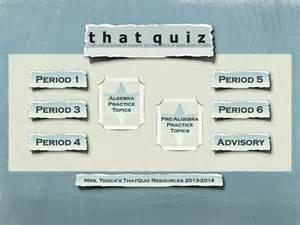"""Using Thatquiz Before """"the Quiz"""""""