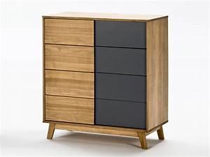 Commode En Bois : commode en bois 4 tiroirs l80 cm caly ~ Teatrodelosmanantiales.com Idées de Décoration