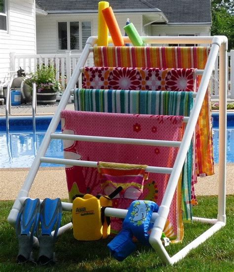 pvc towel rack pvc pipe creations make cool stuff out of pvc pipes