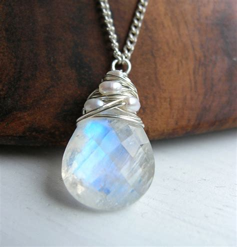 Modification Jewelry Uk by Silver Moonstone Necklace With Pearls By Hickey