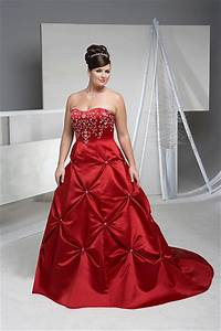 elegant bridal style plus size red and white wedding dresses With red plus size wedding dresses