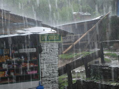 nepals monsoon season kicks    days early photo