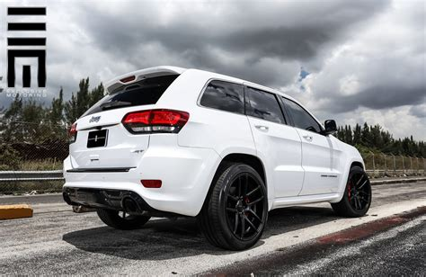 jeep cherokee black with black rims jeep grand cherokee srt on black custom wheels by