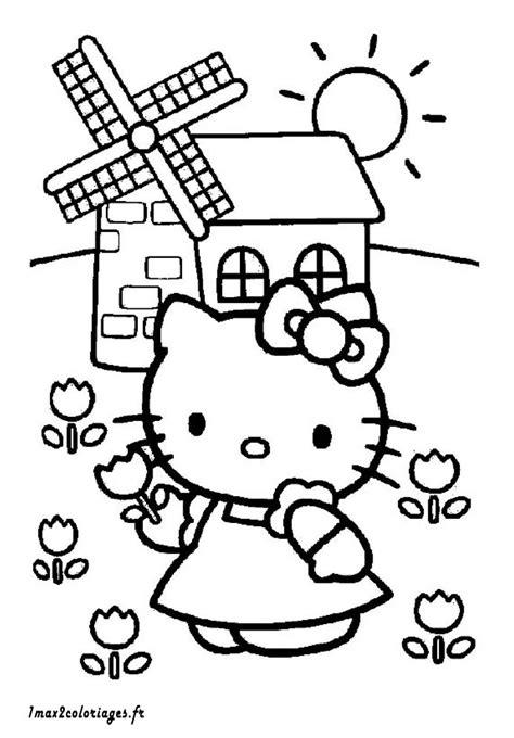coloriage de hello a imprimer coloriages de hello a imprimer hello devant un moulin