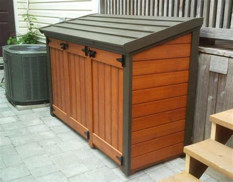 garbage bin storage shed free plan trash can shed plans home sweet home in 2019