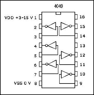Converter Circuit Using Hex Inverter
