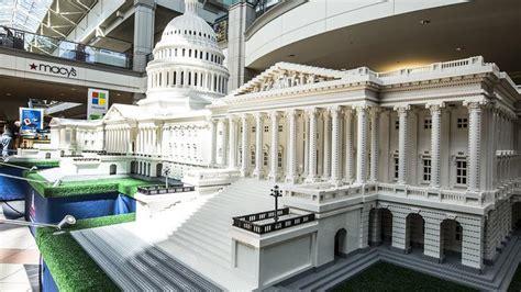 white house  capitol built  lego bricks visit