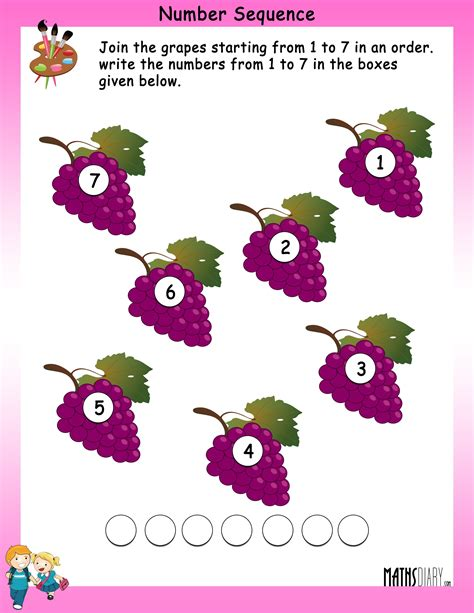 number sequence worksheets mathsdiarycom