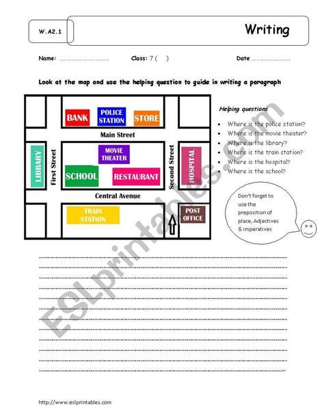 giving directionswriting esl worksheet  yuri sama