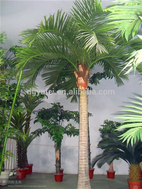 decorative fake artificial palm trees fiberglass coconut