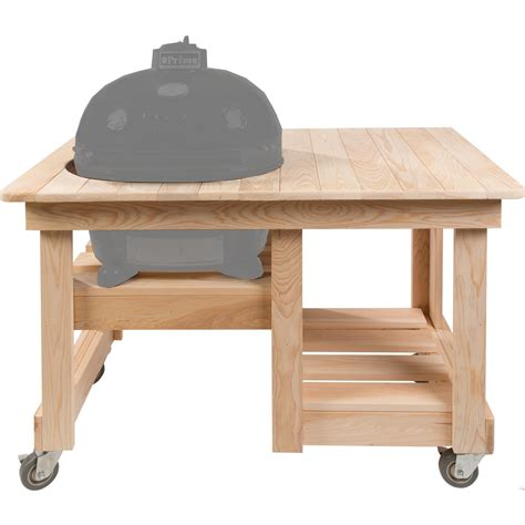 primo cypress countertop table for oval xl bbq guys