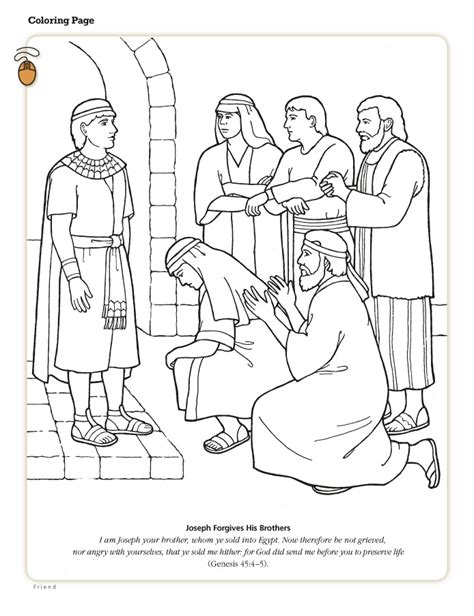HD wallpapers coloring page for joseph and his brothers