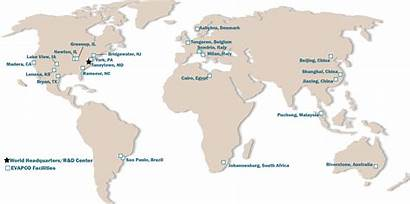 Evapco Worldwide Map Locations