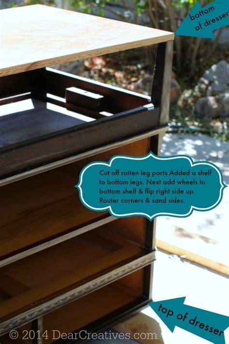 Dresser To Kitchen Island   Cart #DIY With #ChalkyFinish