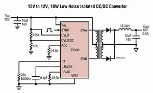 Lt3999 12v To 12v  10w Low Noise Isolated Dc  Dc Converter
