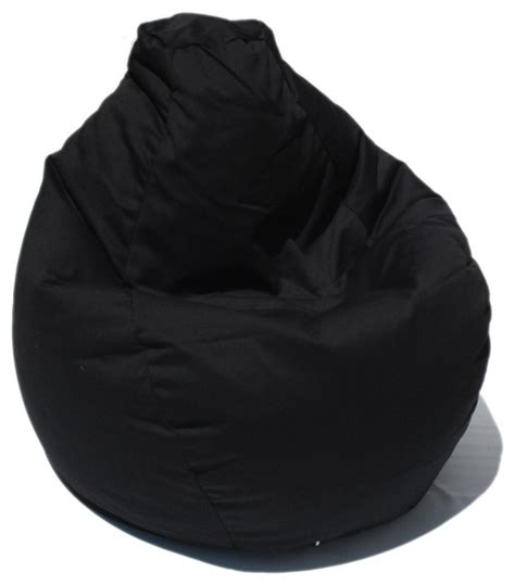 bean bag boys fabric bean bag chair in poly cotton black