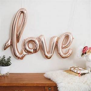 Balloons scripts and rose gold on pinterest for Cursive letter balloons