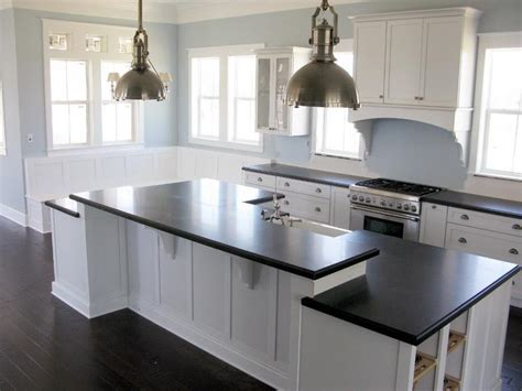 white cabinets with black countertops 25 stunning kitchen color schemes