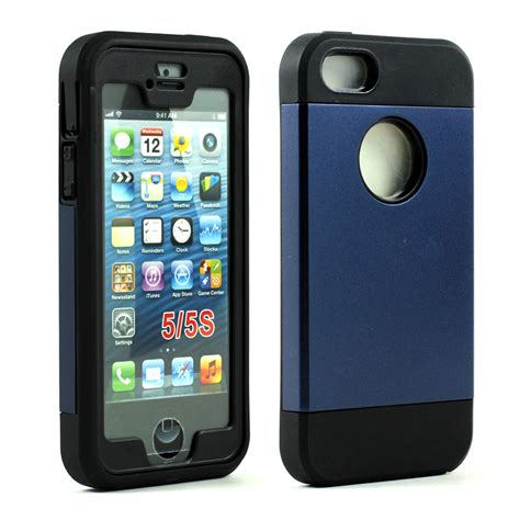 cheap iphones 5s iphone 5 5s slim defender with screen blue