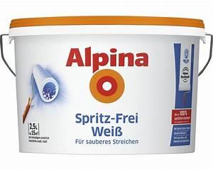Alpina Wandfarbe Weiß : alpina wandfarbe spritzfrei wei 2 5l bei hornbach kaufen ~ Articles-book.com Haus und Dekorationen