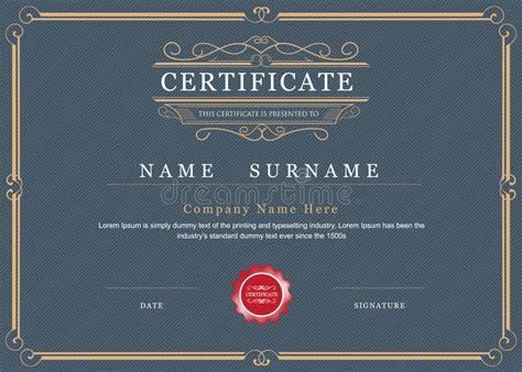 certificate achievement frame border vector elegant stock