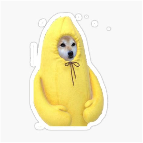 Doge Meme Wow Banana Stickers | Redbubble