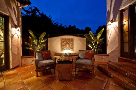 living room wall patio mediterranean with courtyard san