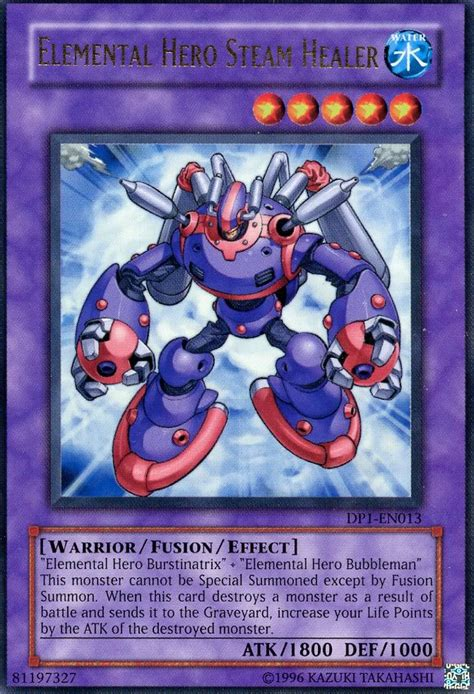 yugioh elemental hero steam healer ultra dp1 en013 ebay