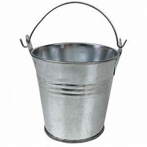 Metal, Favor, Bucket, Pail, 2in, Galvanized
