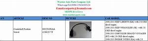 68029496aa 45962077f Crankshaft Position Sensor For Jeep