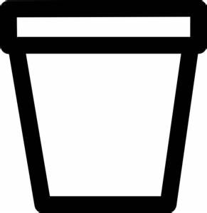 Flower Pot Outline Clip Art at Clker.com - vector clip art ...