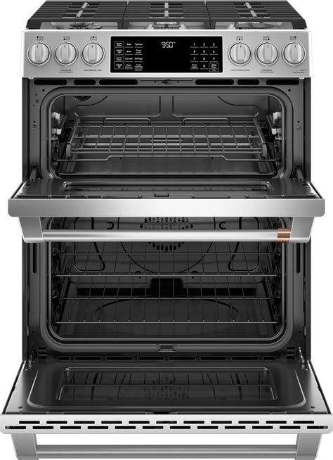 cspms cafe     double oven dual fuel range stainless steel