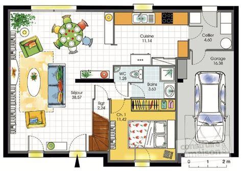 plan maison 120m2 3 chambres charmant plan maison 120m2 3 chambres 7 maison