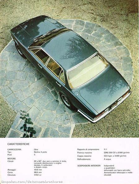 Scans of De Tomaso Deauville brochure (1971c1) - timpelen.com