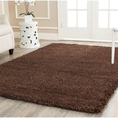 Shaggy Area Rugs safavieh california shag brown 8 ft x 10 ft area rug